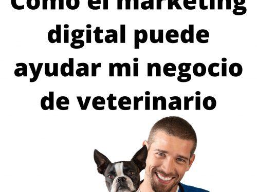 Como el marketing digital puede ayudar mi negocio de veterinario