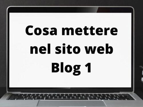 Cosa mettere nel sito web